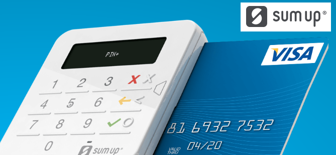 Card reader - sign up with SumUp today