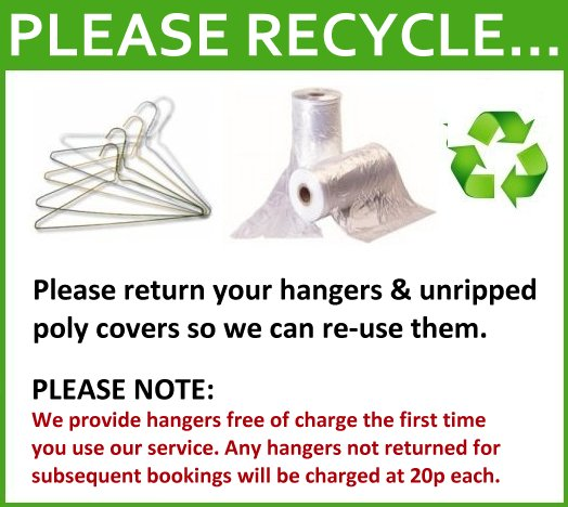 Recycle Hangers and Polythene Covers